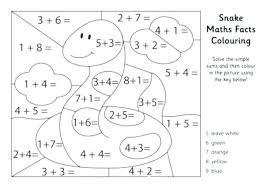 Addition Coloring Pages 2nd Grade 2 Math Worksheets Bitsandpixelsfo