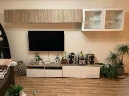 wohnwand tv schrank wohnzimmer möbel ikea besta