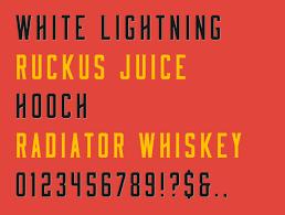 Free Font Friday Moonshiner