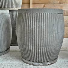 10 Easy Pieces Zinc Barrel Planters Gardenista