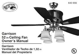 Hampton Bay Ceiling Fan Remote Control Instructions by Hampton Bay Ac 418 Ceiling Fan Fan Stopped Turning The Home