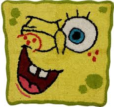 home bathroom rugs spongebob squarepants bath rug shower