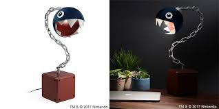 Mario Bros Question Block Lamp by Power Up Your Desk With Mario Question Block And Chain Chomp Lamps