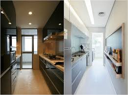 amenager une cuisine en longueur design interieur comment aménager cuisine longueur élégante noir