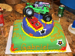 Monster Truck Birthday Party Cake — CRIOLLA Brithday & Wedding ... Creative Cakes Semi Truck Cake School Of Natalie Bulldozer With Kitkats Garbage Cakes Decoration Ideas Little Birthday For Dump Sheet Tutorial My 1st Punkins Shoppe Fire With Monster 9x13 Monster Truck Cake Pinterest Hot Wheels Cakecentralcom Hunters 4th Its Always Someones Blakes 5th Bday Youtube