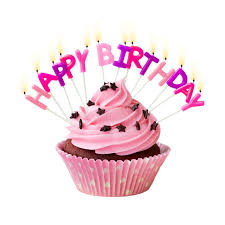 Download Happy birthday cupcake stock image Image of against