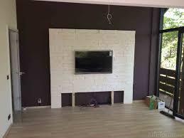 wohnzimmer tv wohnwand steinoptik wand jamgocorhjamgoco
