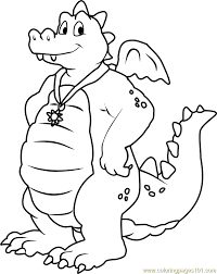 Dragon Tales Ord Blue Male Coloring Page