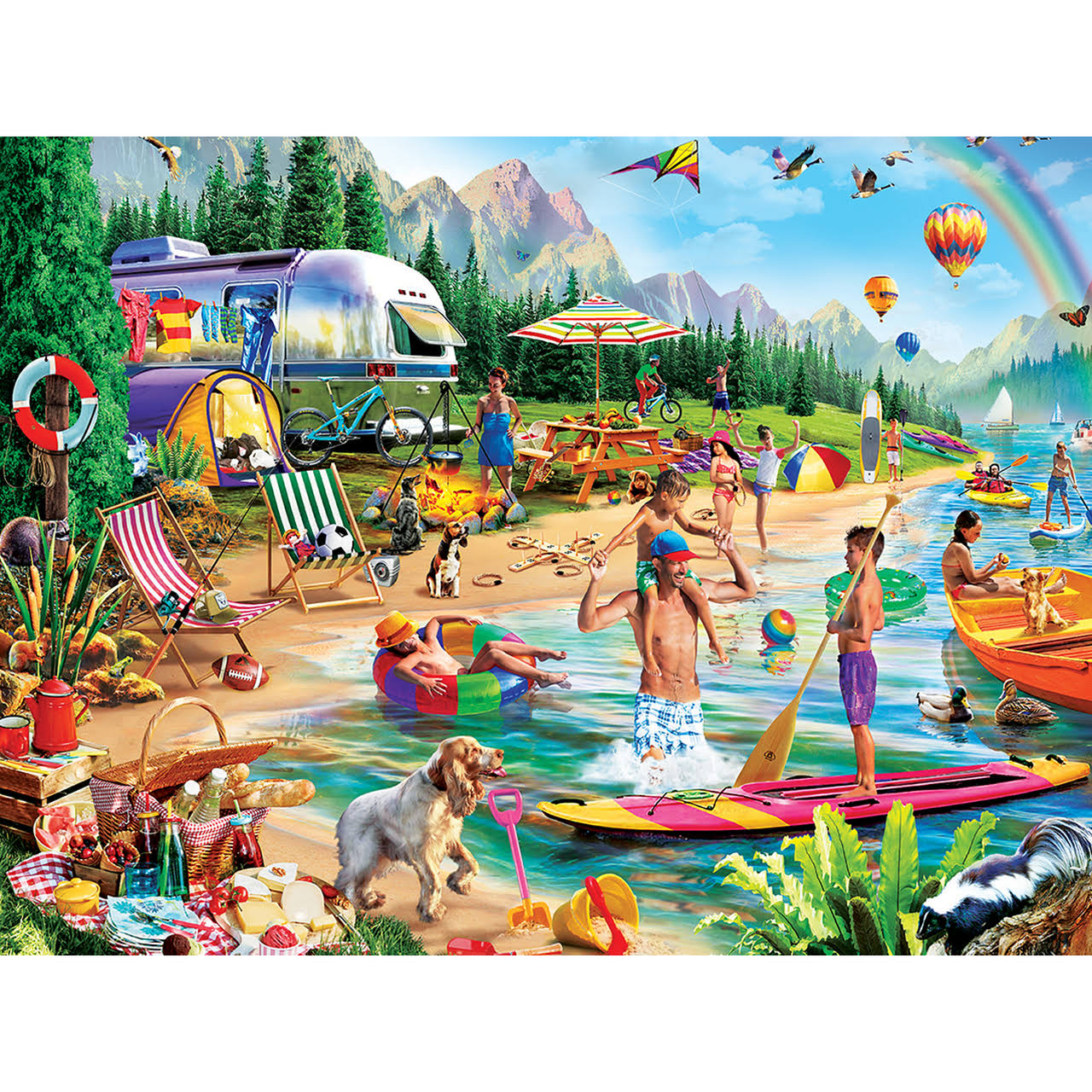Masterpieces Day at the Lake 300-Piece Jigsaw Puzzle