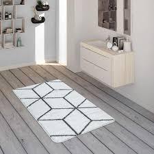 badematte rauten muster anthrazit weiß teppichcenter24 für