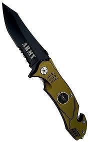 couteau militaire pliant 20 5cm army armée tactique couteaux