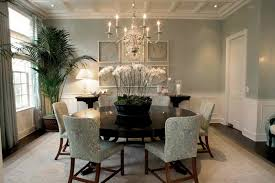 Asian Inspired Dining Room Furniture With Orchid Flower