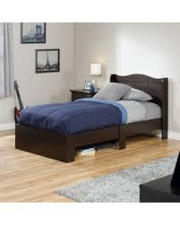 Sauder Shoal Creek Dresser Jamocha Wood Finish by Slash Prices On Sauder Storybook Mates Twin Wood Bed Jamocha Wood