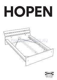Ikea Hopen Bed by Instrukcja Złożenia Dla łóżka Ikea Hopen Bed Frame King Pobierz