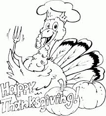 Turkey Said Happy Thanksgiving Coloring Pages For Kids
