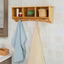 sobuy wandregal wandhaken hängeregal badezimmerschrank küchenregal aus bambus frg48 n