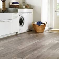 Wood Look Luxury Vinyl Flooring In The Laundry Room