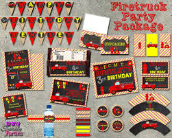 100 Fire Truck Birthday Party Truck Package