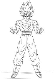 Click To See Printable Version Of Goku Super Saiyan Coloring Page