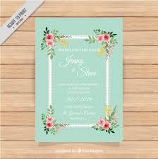 cadre photo mariage gratuit vintage carte de mariage avec un cadre floral télécharger des