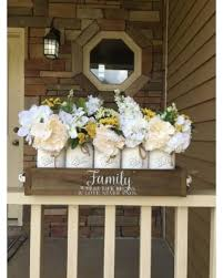 5 Jar Planter Box Mason Centerpiece Wood Decor Wedding
