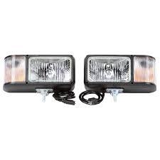 100 Truck Lite Universal Halogen 4 X 6 In Rectangular Snow Plow Light 2 Bulb