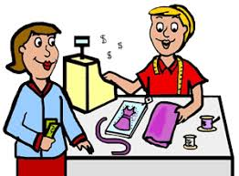 Clip Art Of Someone Buying Clothes Clipart