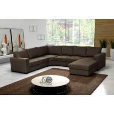 canapé marron grand canapé d angle 6 à 7 places oara marron chocolat pas cher