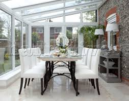 Lovely Design Conservatory As Dining Room 82 Ideas Uk Table In Extension Of Kent Cottage England UK