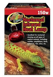 Basking Lamp Wattage For Bearded Dragon by Nocturnal Infrared Heat Lamp Zoo Med Laboratories Inc