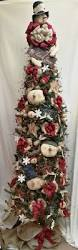 7ft Cashmere Pencil Christmas Tree by Cashmere Pencil Christmas Tree With Burlap Cashmere Pencil