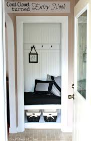 Entryway Closet Hall Closet6 Coat Ideas My Sister S New House A Turned Entry Nook Makeover