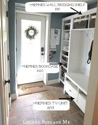 entryway built in shelves