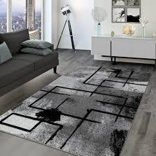 wohnzimmer teppich modernes geometrisches design