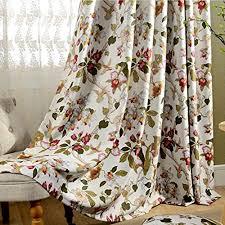 2er set romantische gardinen vintage creme vorhänge klassische blickdicht vorhänge für schlafzimmer wohnzimmer 160 140 cm