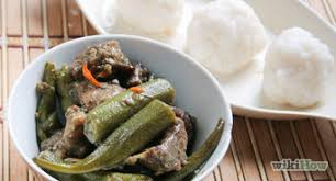 Cook West African Food Okra And Fufu Soup