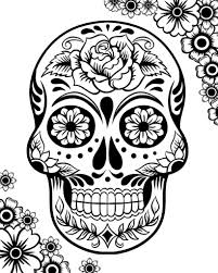 Day Of The Dead Free Skulls For Coloring