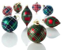 Plaid Christmas Ornaments Fnd Tree Decor