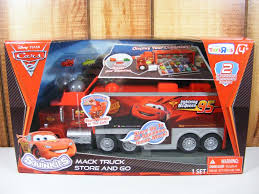 Mack Truck Hauler Cars 2 Disney Pixar Squinkies Figures On PopScreen