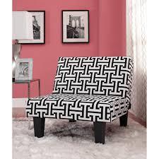 Walmart Black Futon Sofa by Kebo Chair Black And White Geometric Pattern With Dark Leg