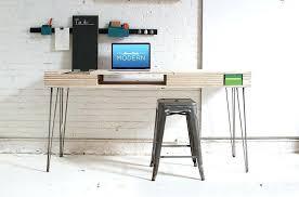 Plywood Desk Homemade Modern The Flip Options Lamp
