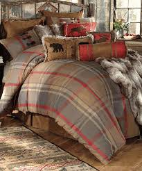 Mountain Trail Rustic Bedding Create A Woodsy Feel In Your Bedroom With The Woven Cotton Plaid