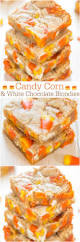 Top Halloween Candy Favorites by Candy Corn And White Chocolate Blondies Averie Cooks