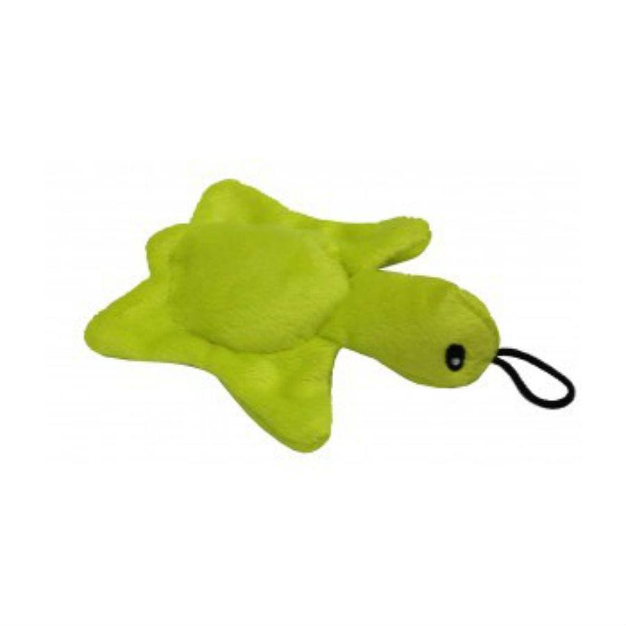 Petlou 5-Inch Plush Squeaky Turtle Dog Toy - Assorted Colors