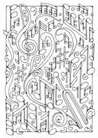 Adult Coloring Page Musical Notes