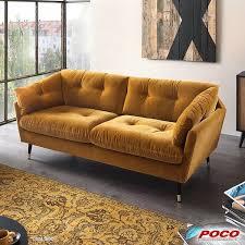 sofa japan 3 sitzer gold bei poco kaufen sofa
