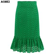 popular vintage green lace skirt buy cheap vintage green lace