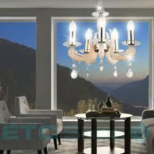 details zu kronleuchter chrom hänge pendel beleuchtung ess zimmer decken le lüster weiß
