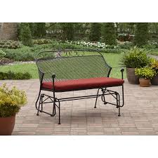 Walmart Patio Cushions Better Homes Gardens by Better Homes And Gardens Clayton Court Outdoor Glider Red