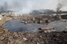 Tianjin Explosion Satellite Photos Reveal Toxic Wasteland In Chinese Industrial District